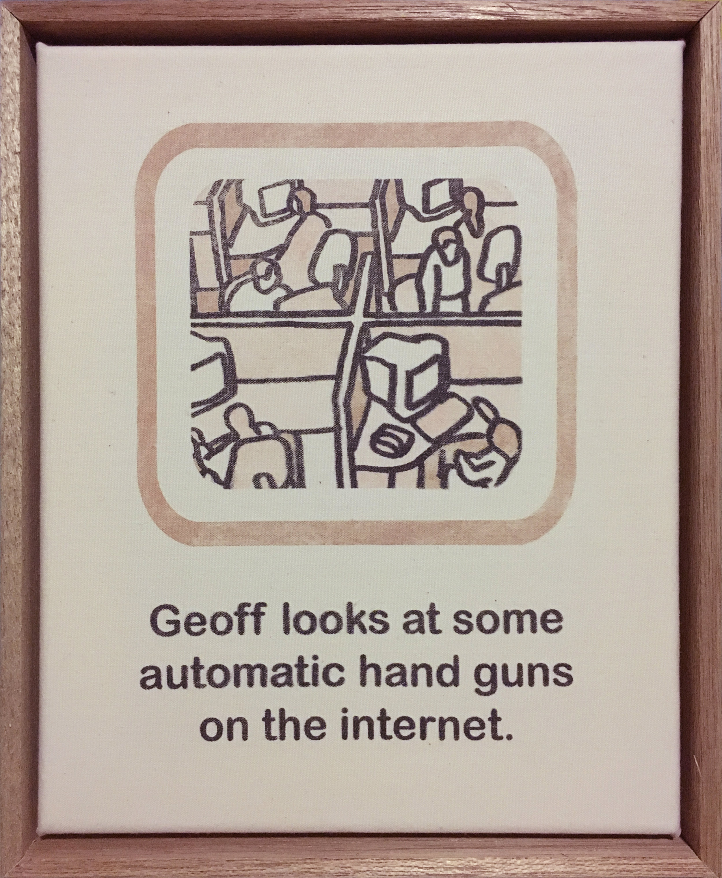 Geoff looks at some automatic hand guns on the internet.
