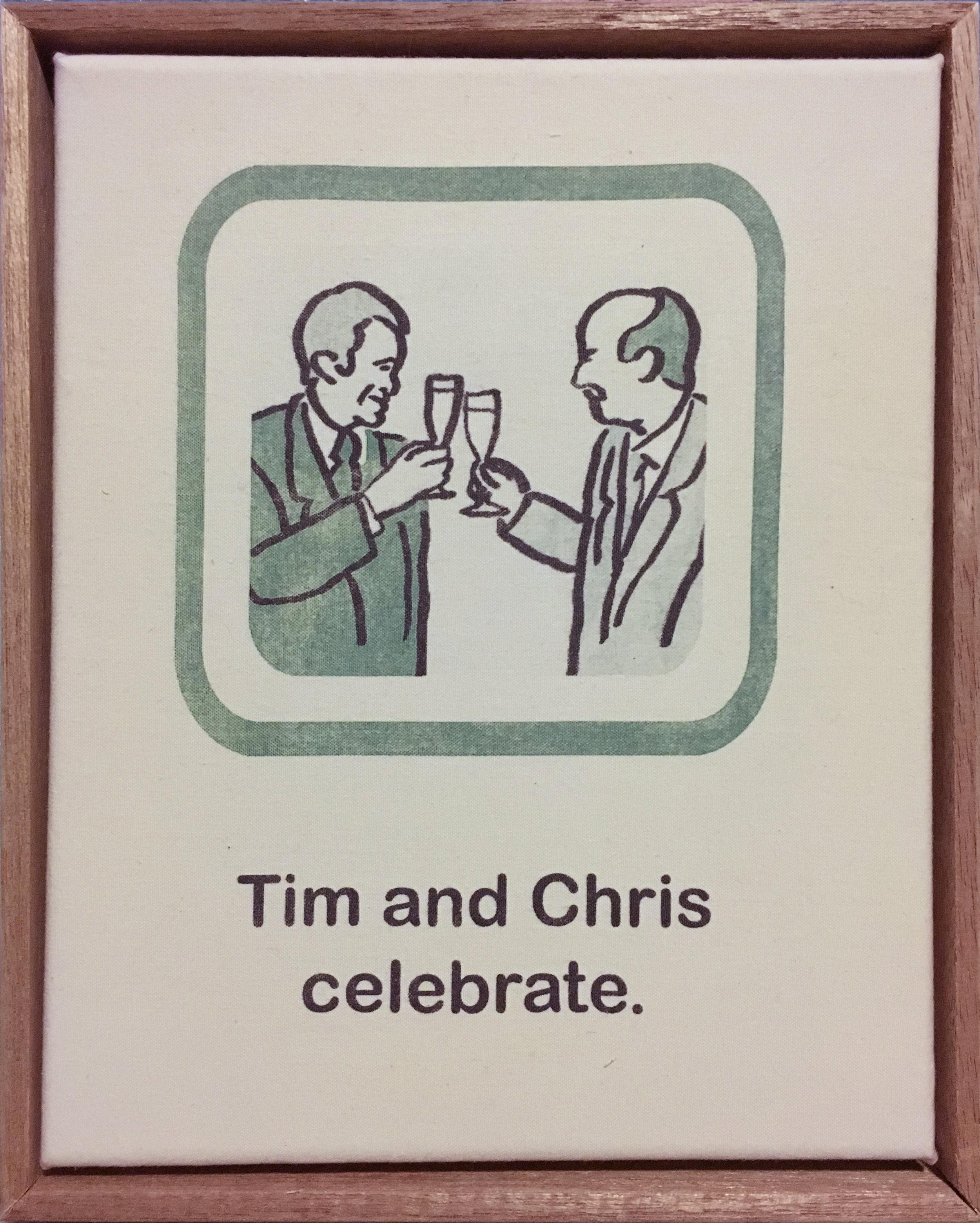 Tim and Chris celebrate.