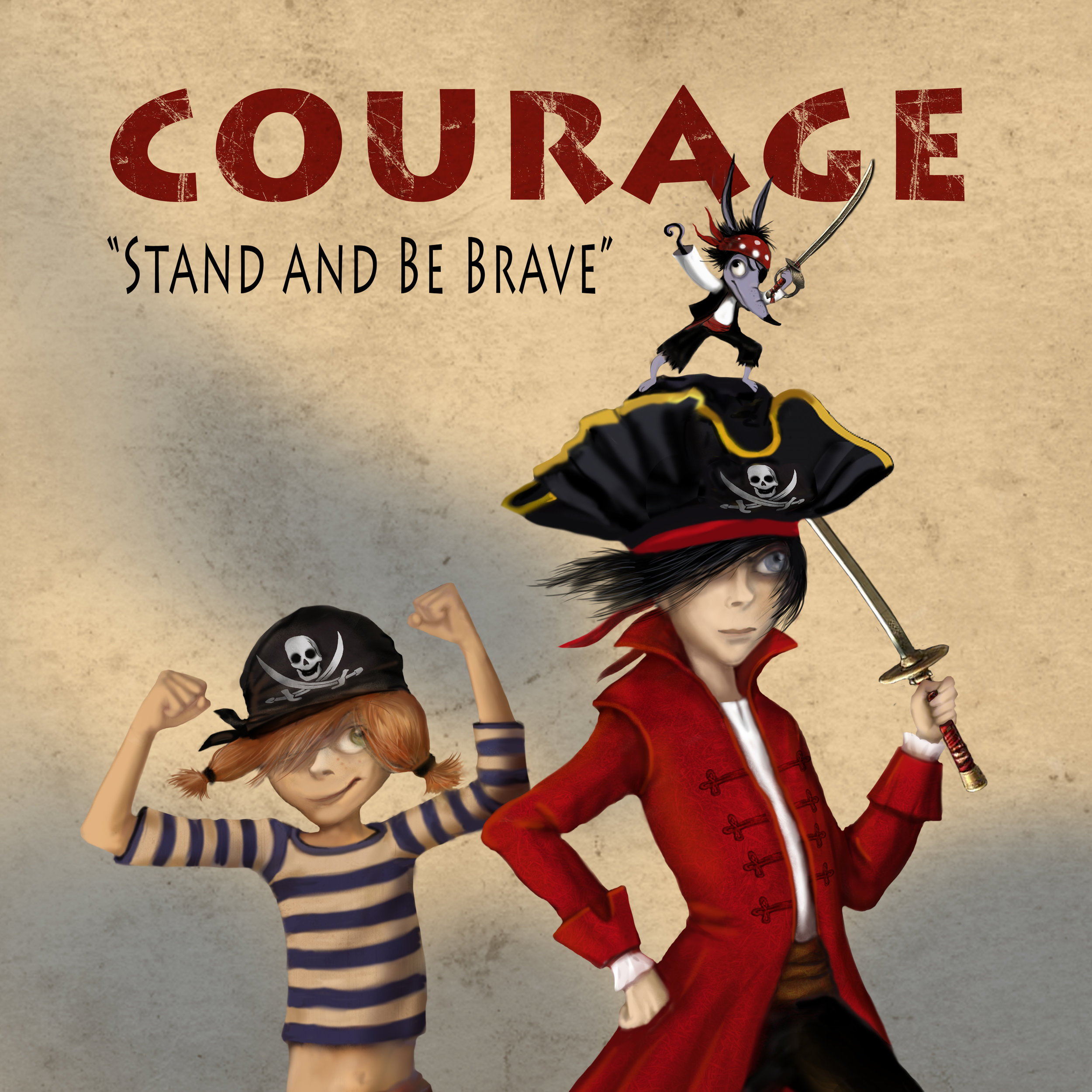 """Courage"" by Danibelle, picture book cover, 2017"