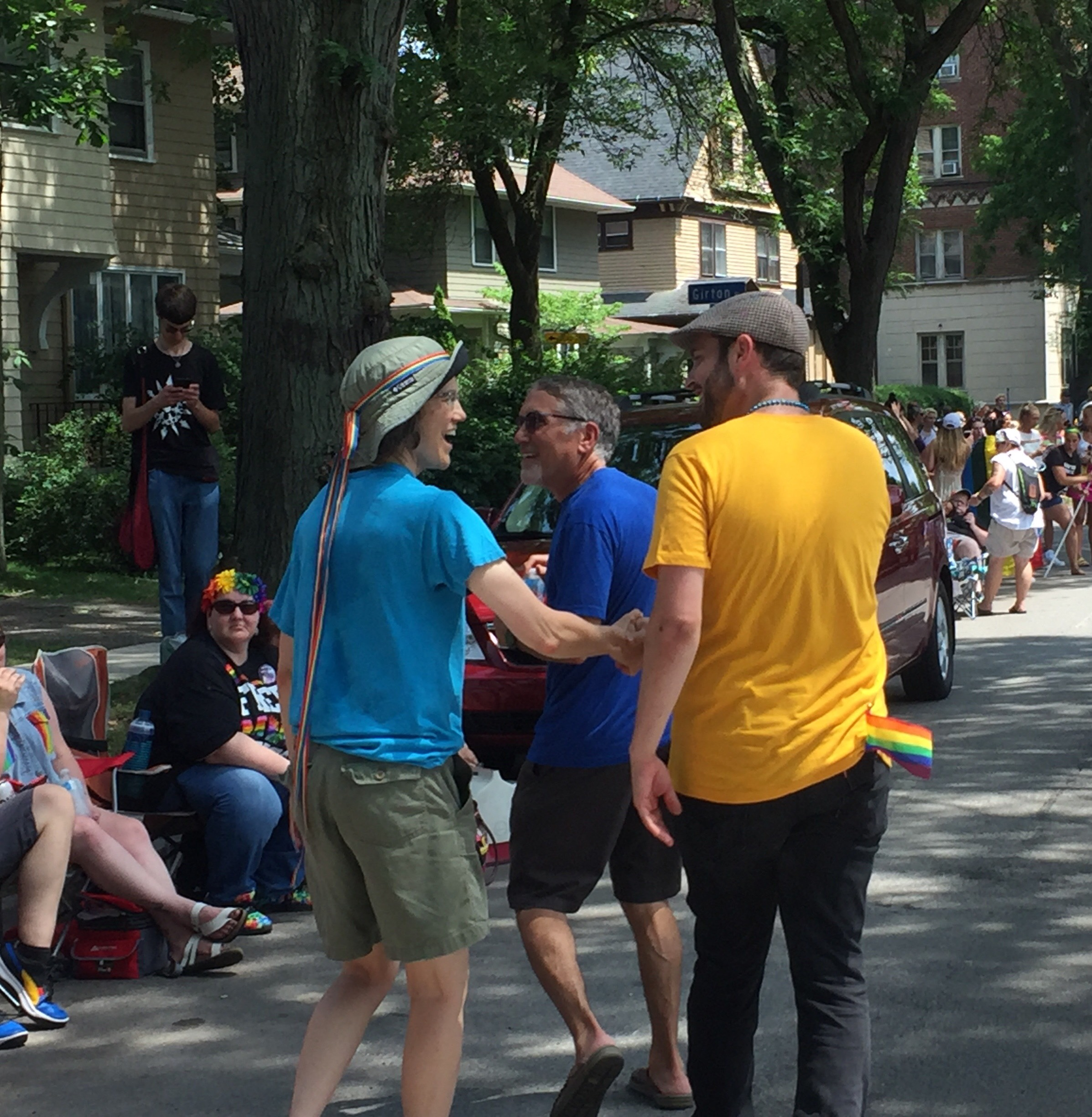 2019 07-20 Pride parade - MG talking to north side of st 2.jpeg