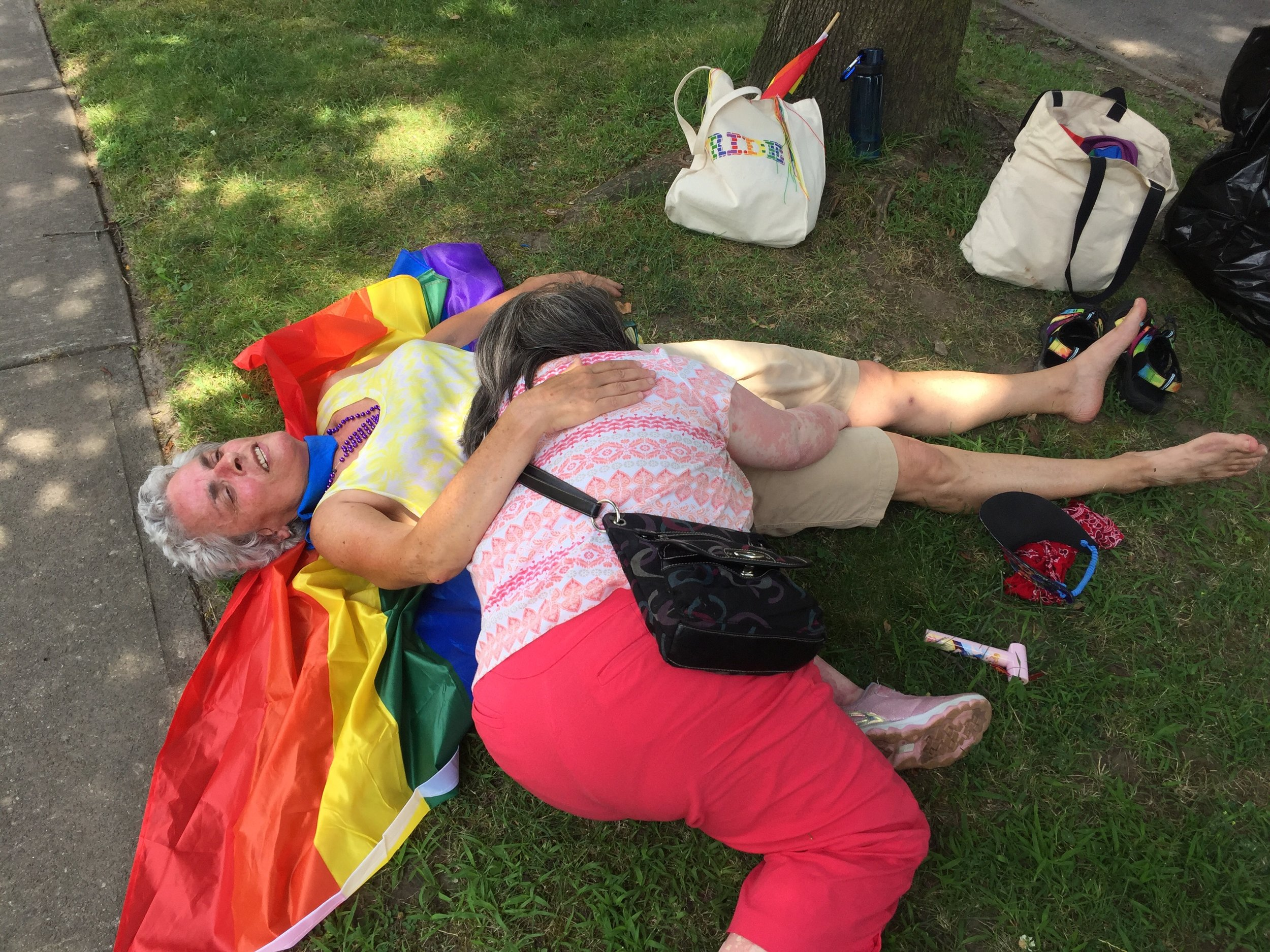 2019 07-20 Pride parade - Debbie & Lizzie ready for a nap.jpeg