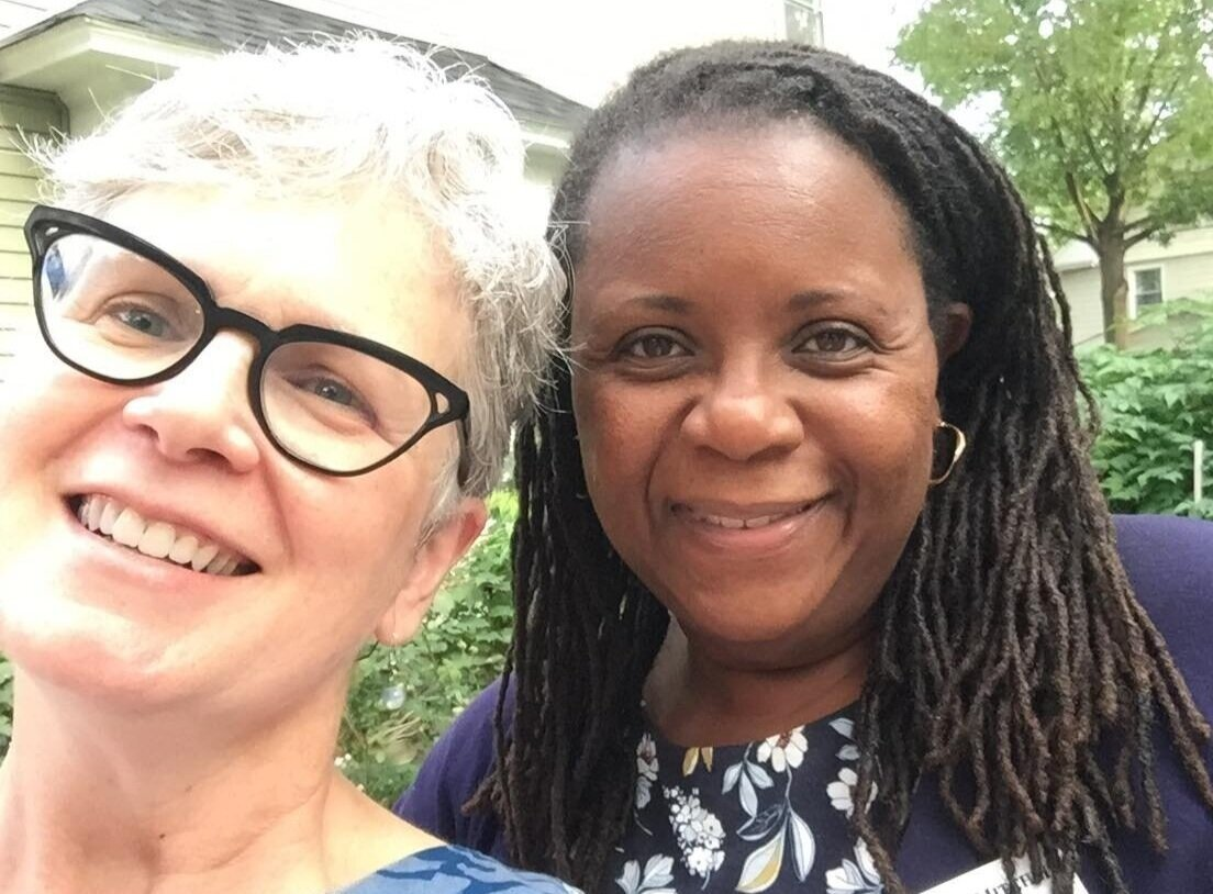 Beth meets with Shani Curry Mitchell, our candidate for District Attorney