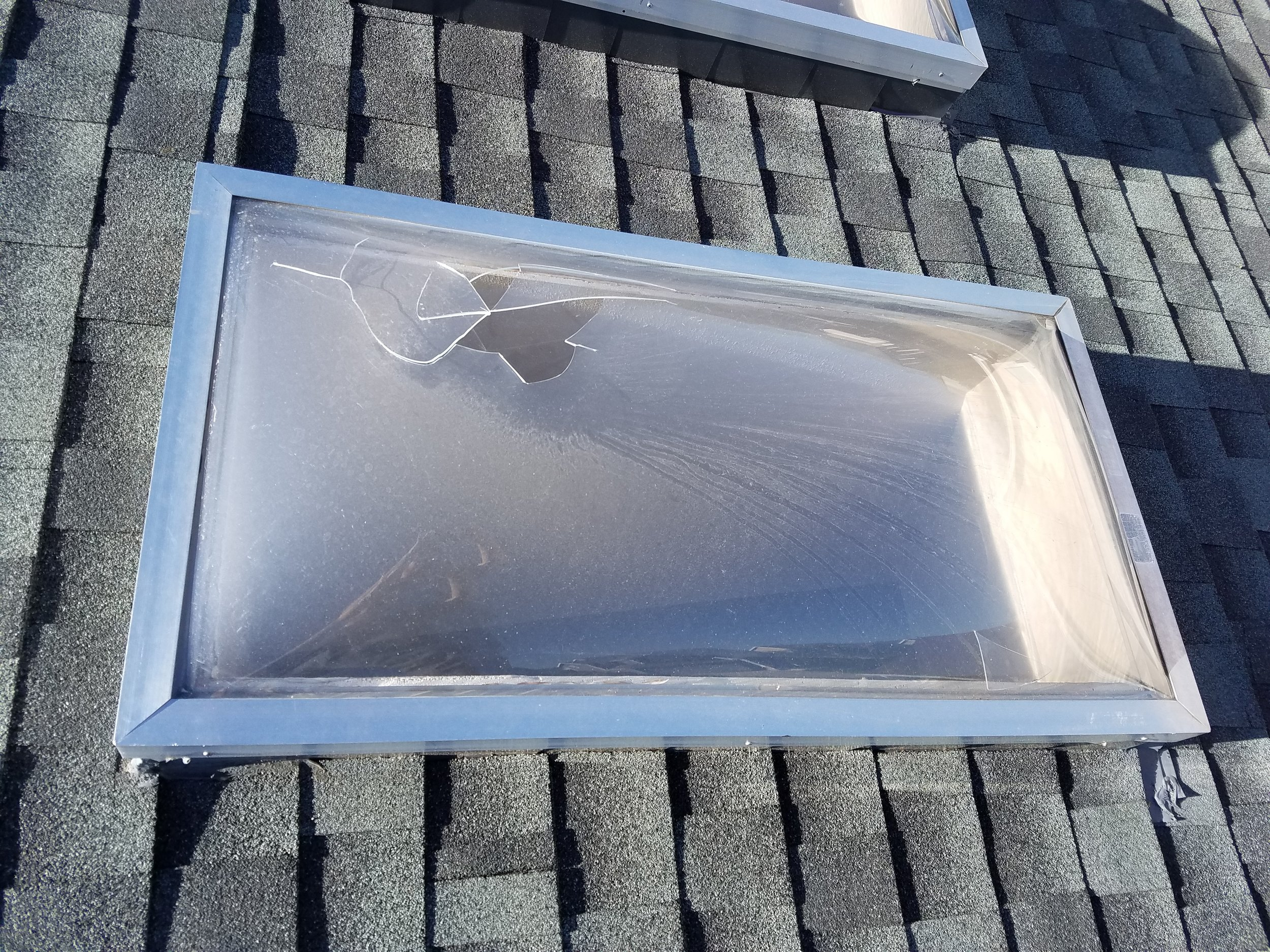 Cracked skylights or weather covers will lead to moisture intrusion inside the attic and home. With our frequent hail here in Colorado, I recommend having your entire roof inspected every 5-years.