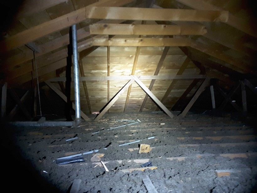 """It's typical to find only 4-inches of insulation in a attic of a 1940's home. However, 12""""-18"""" is recommended."""