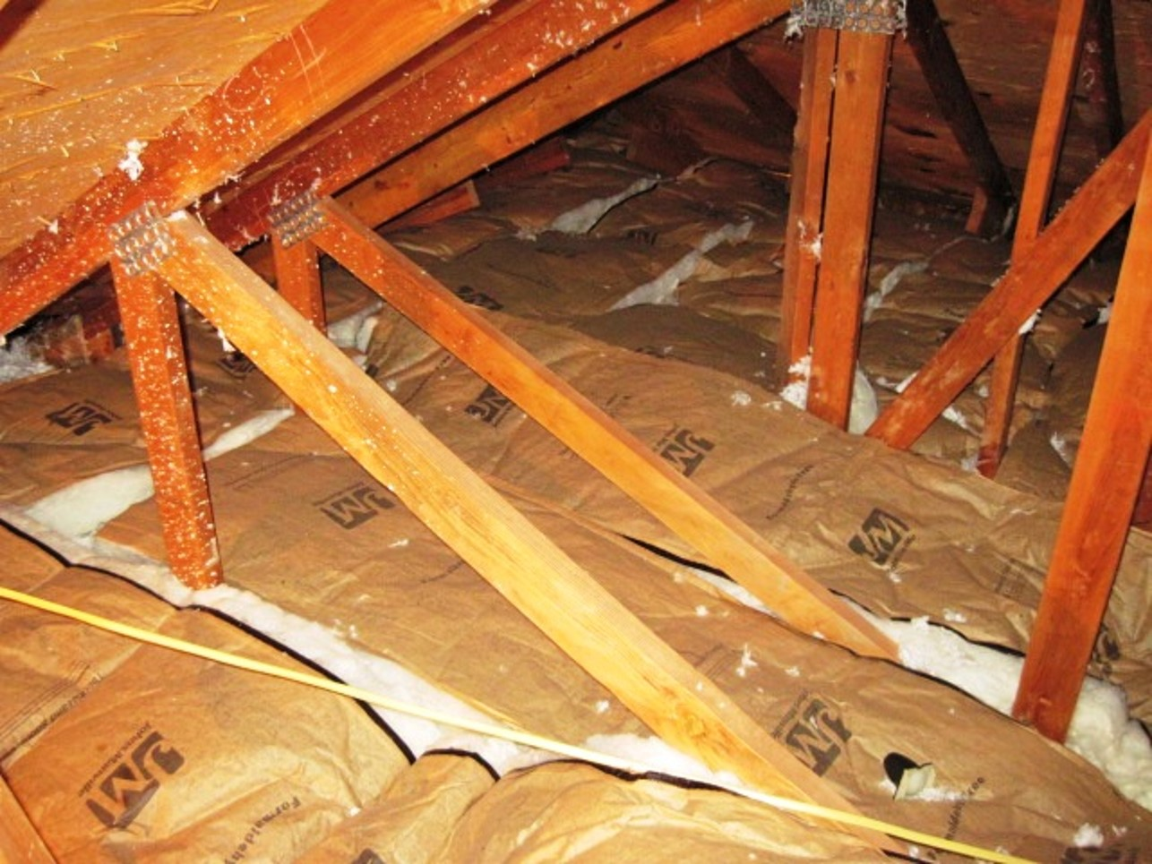 Attic insulation vapor barriers are often installed improperly which could trap moisture and create an environment conducive to mold growth.