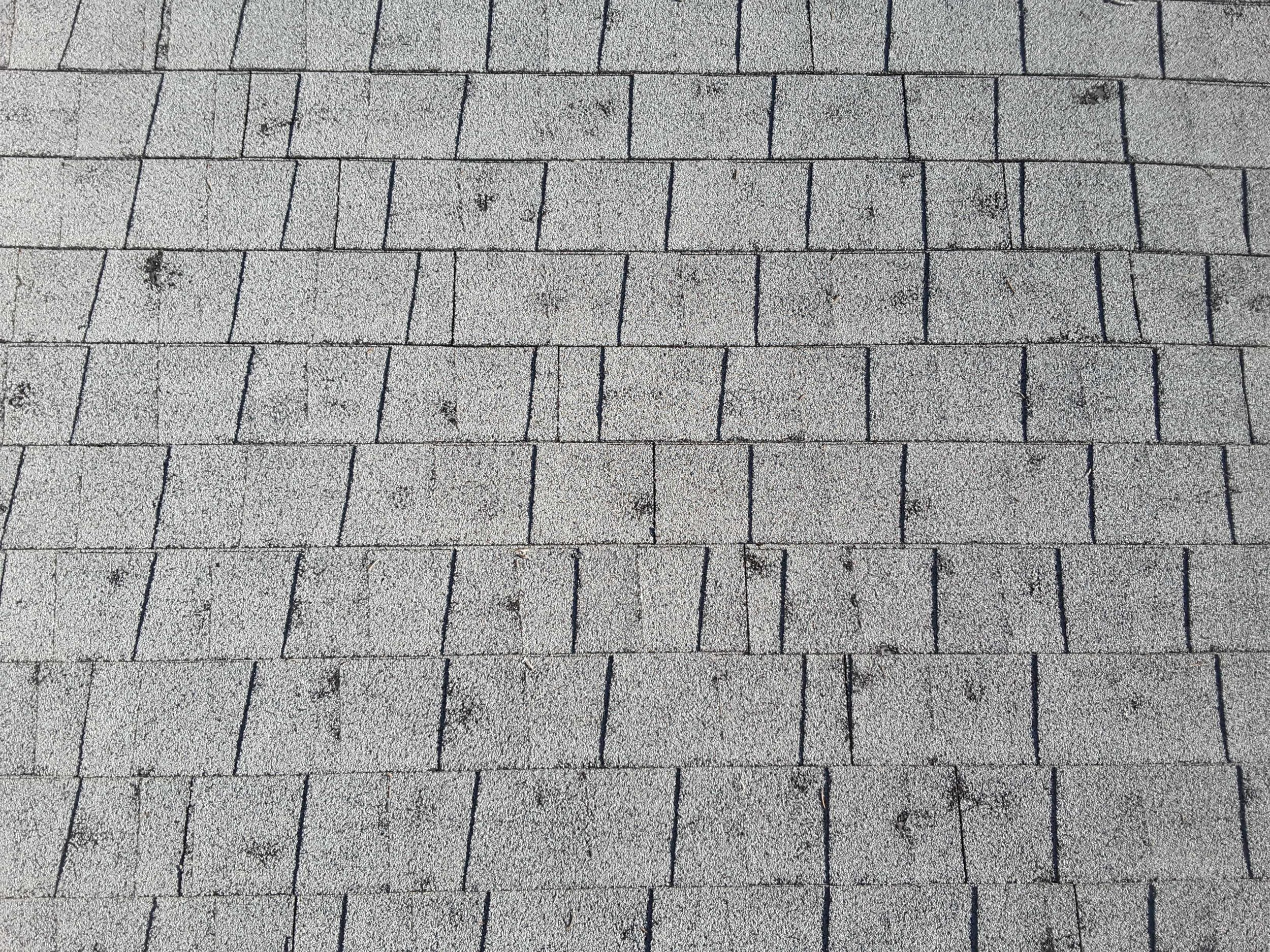 Hail causes up to 10 billion dollars a year in damages. This roof is still functioning, but will have a reduced lifespan.