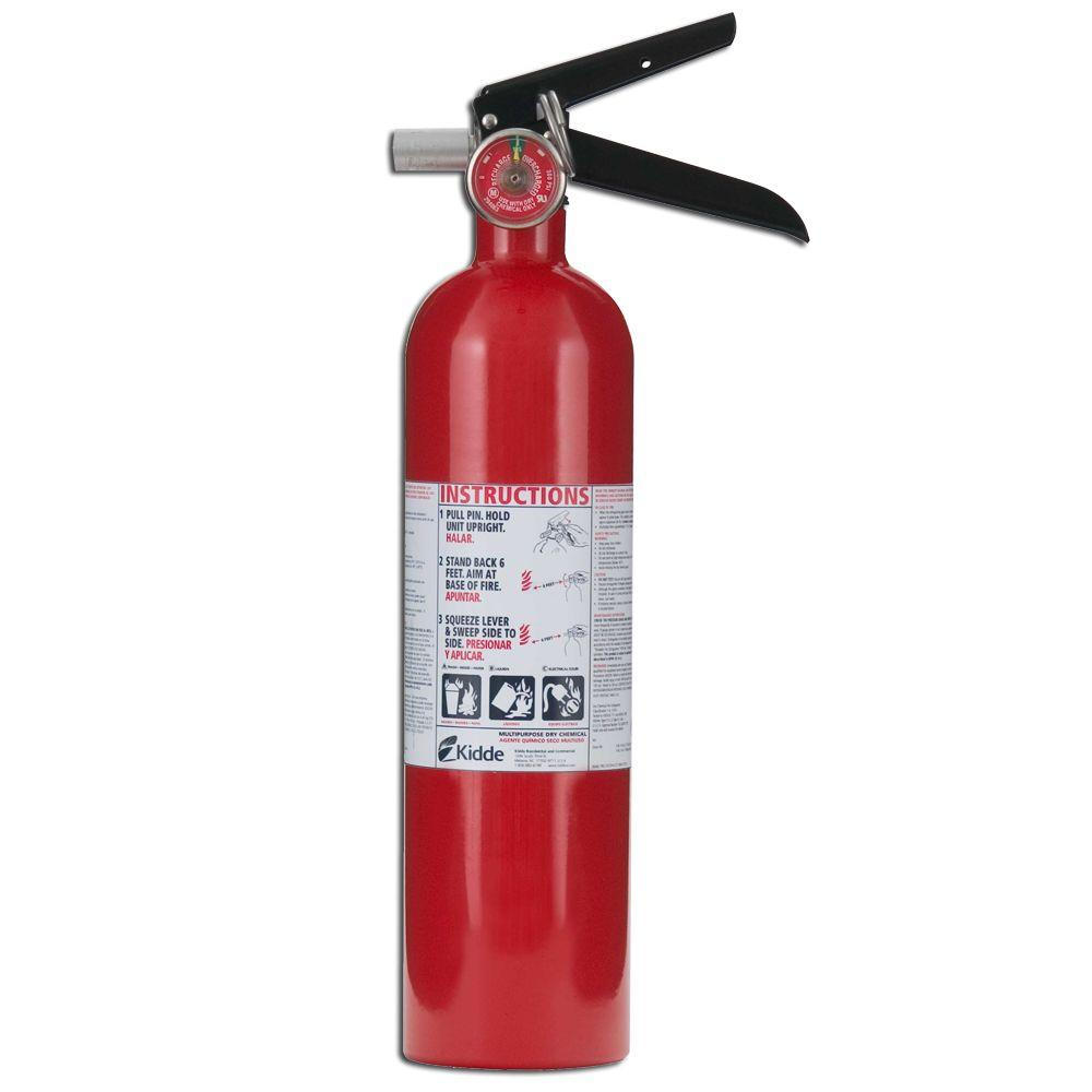 I recommend having at least one class A-B-C fire extinguisher in your home, make sure everyone knows where it is and how to use it.