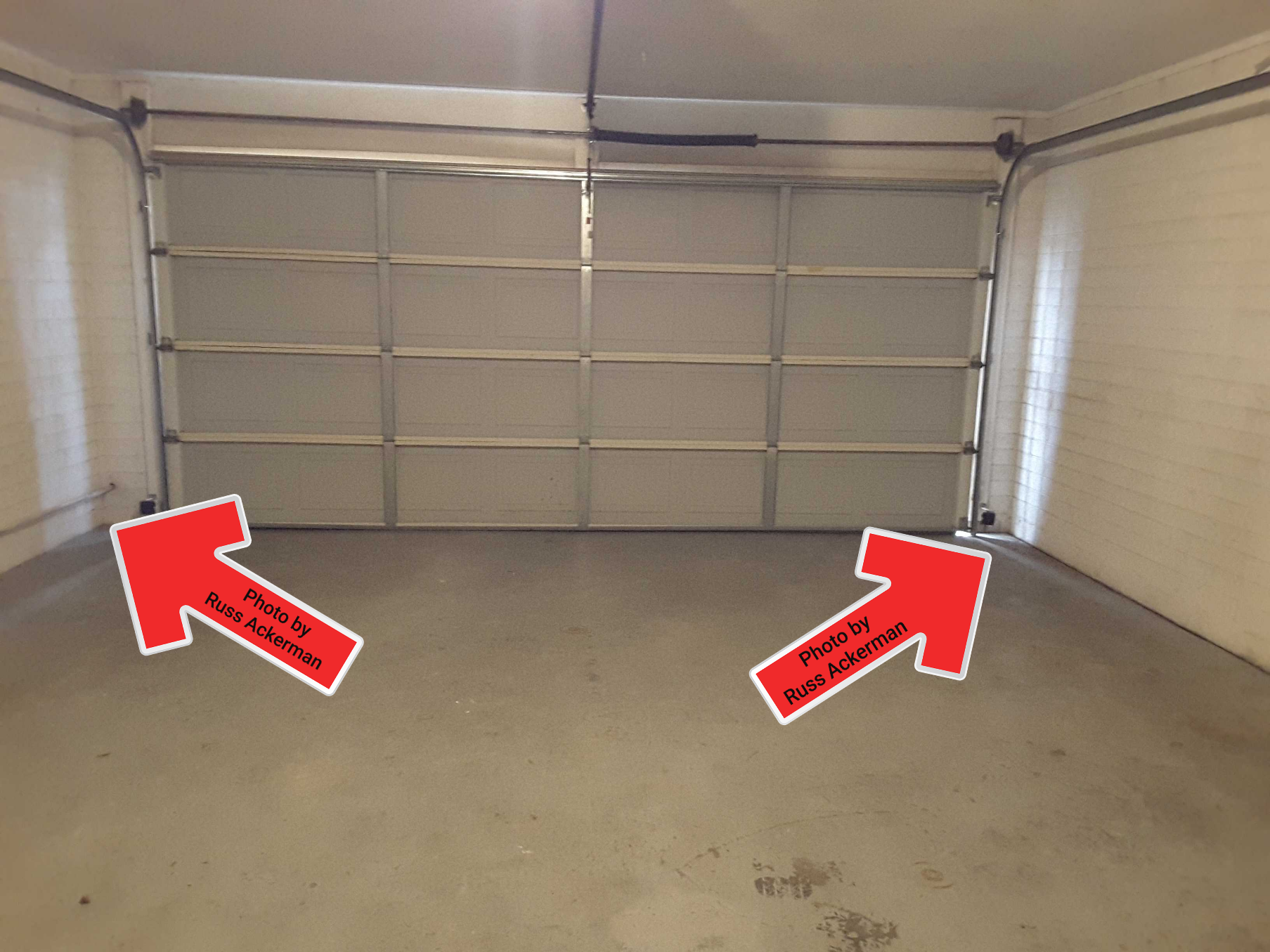 Missing weatherstripping at garage doors will allow a lot of dust in your garage during our summer haboobs. It will also let in unwanted heat, bugs and pests.