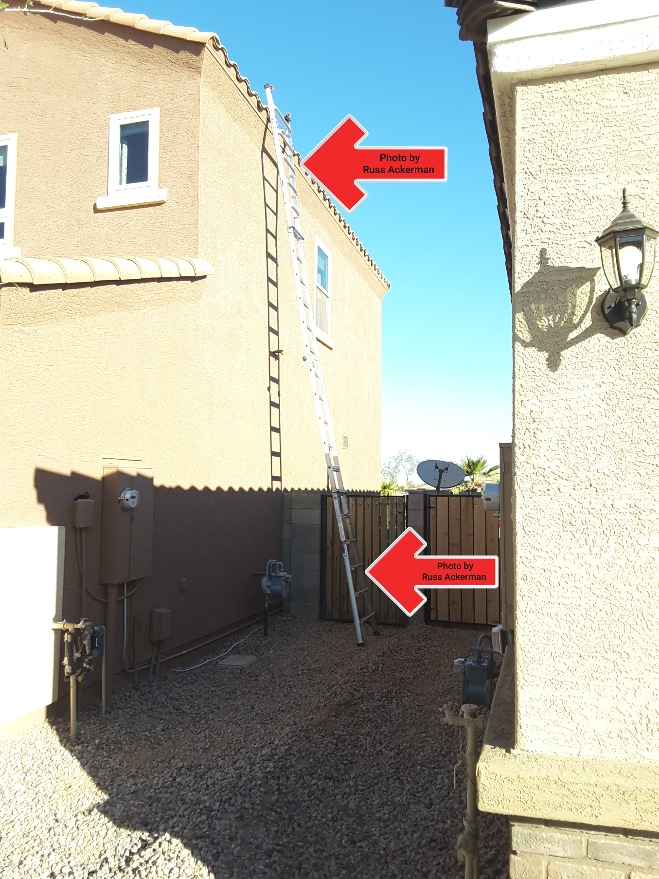 Does your home inspector go above and beyond the standards of practice? I didn't have to get my 26' ladder out, but I did.