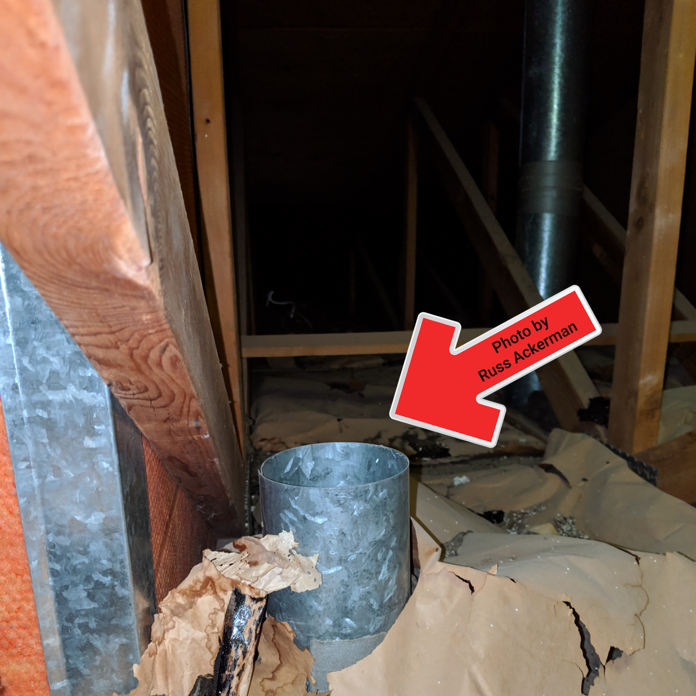 Bathroom exhaust fans that vent into the attic create a perfect environment for mold growth and delaminated roof sheathing, both which could weaken the roof structure.
