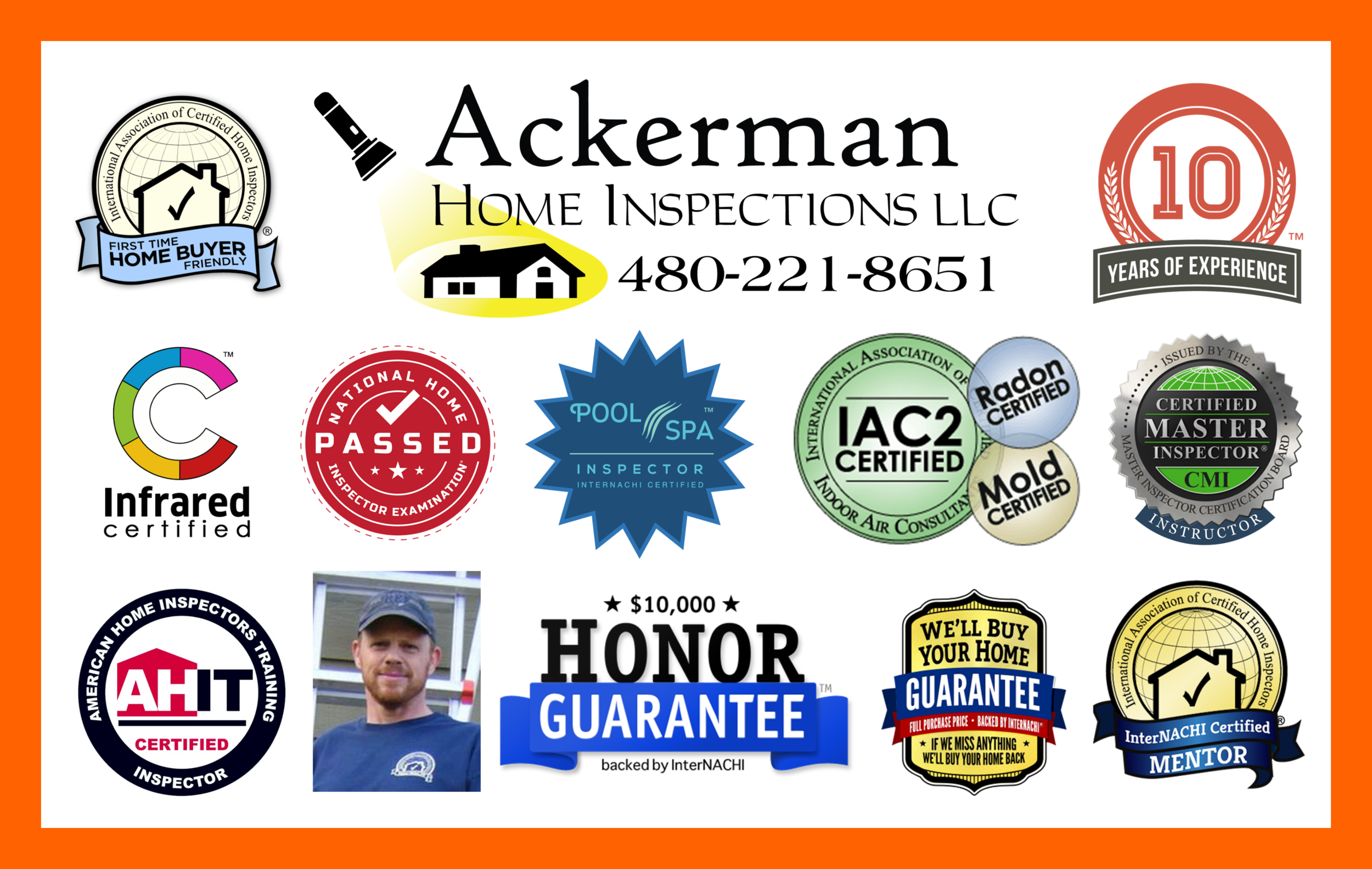Serving the entire Phoenix Metro Area and Beyond. Over 10 years of experience, over 30 certifications, past instructor and mentor to students who are training to becoming home inspectors.