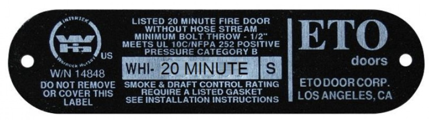A garage fire door must swing inside the home, have auto close hinges, tight fitting weatherstripping and must not have a pet door installed.