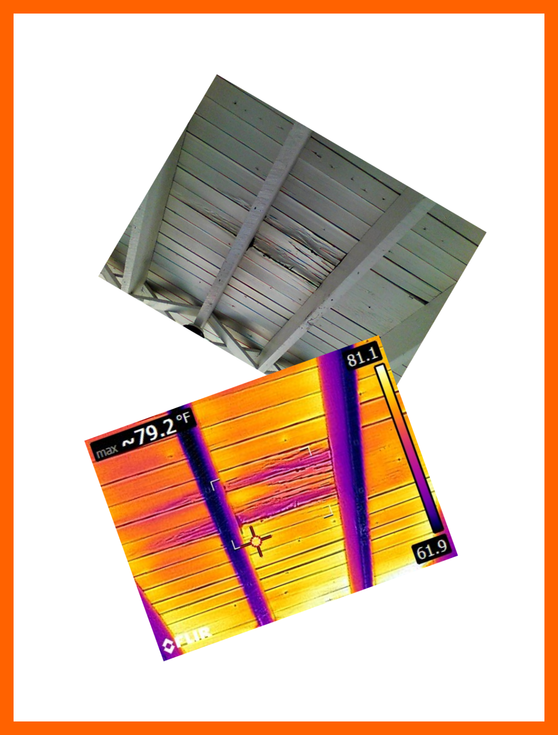 Infrared thermal imaging can be a great tool to detect many hidden issues, roof leaks is just one example.