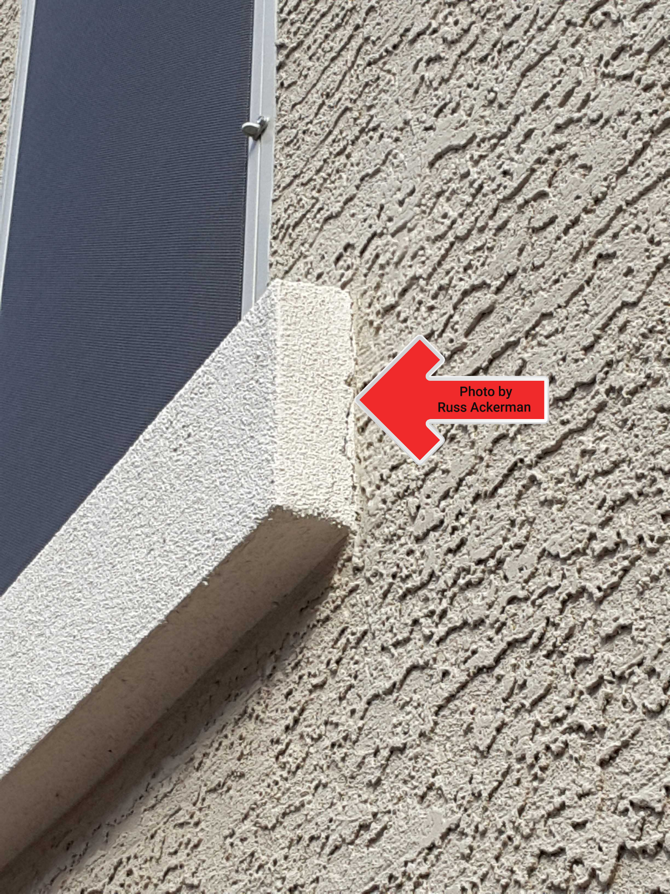 Cracks/gaps at stucco may allow potential water entry into the system and should be sealed, for most small cracks, paint is usually all that's needed.