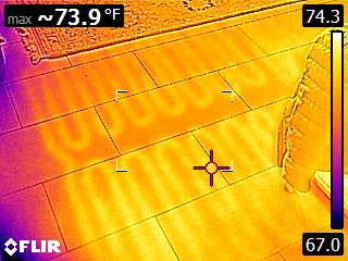 What I see (coverage of radiant floor heating)