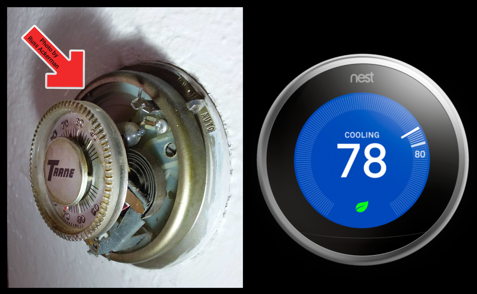 Does your thermostat look like this? It's time for a replacement, and there are a lot of nice options available.