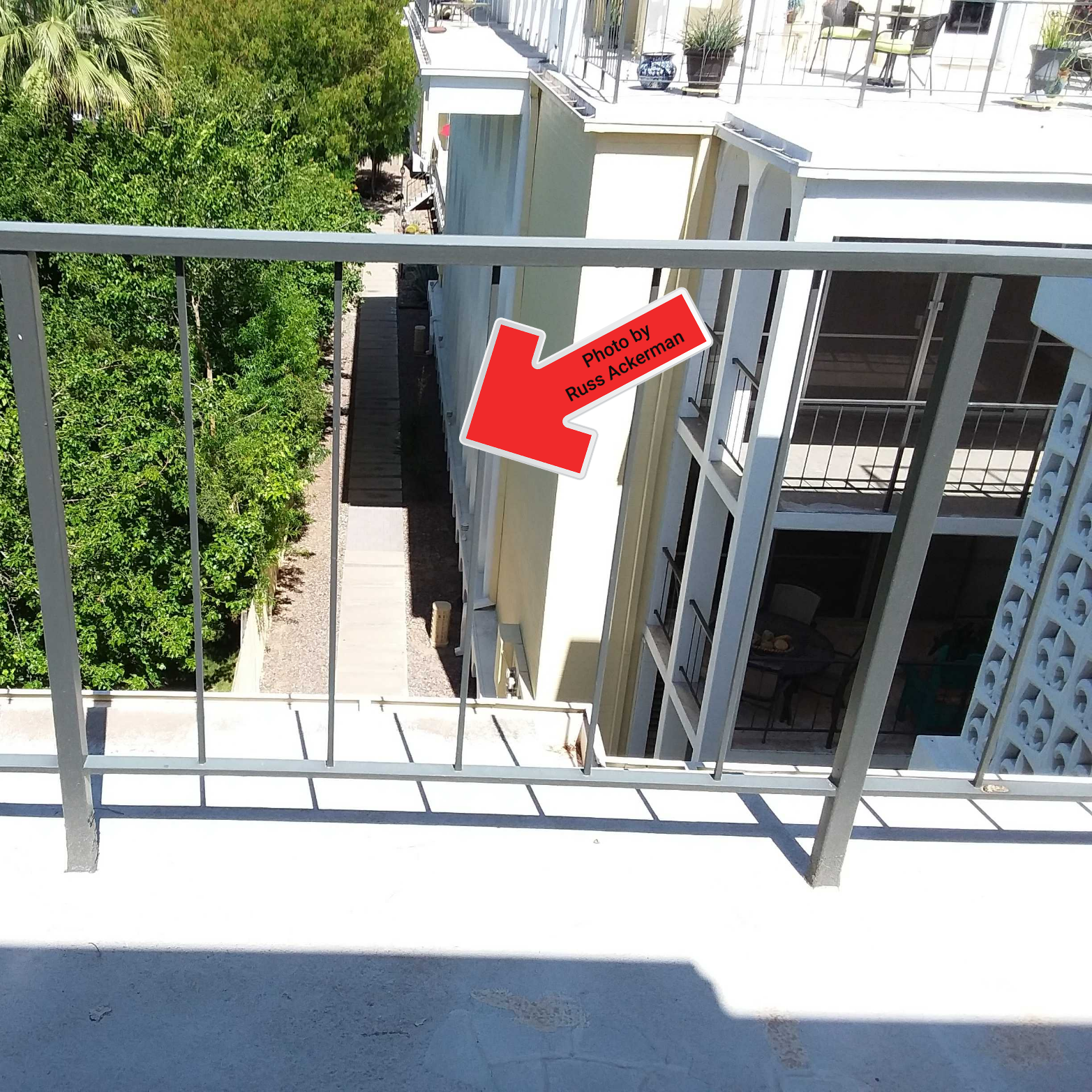 """Balusters spaced more than 4"""" apart are a safety hazard for small children and pets. Buyers should be aware of these hazards."""