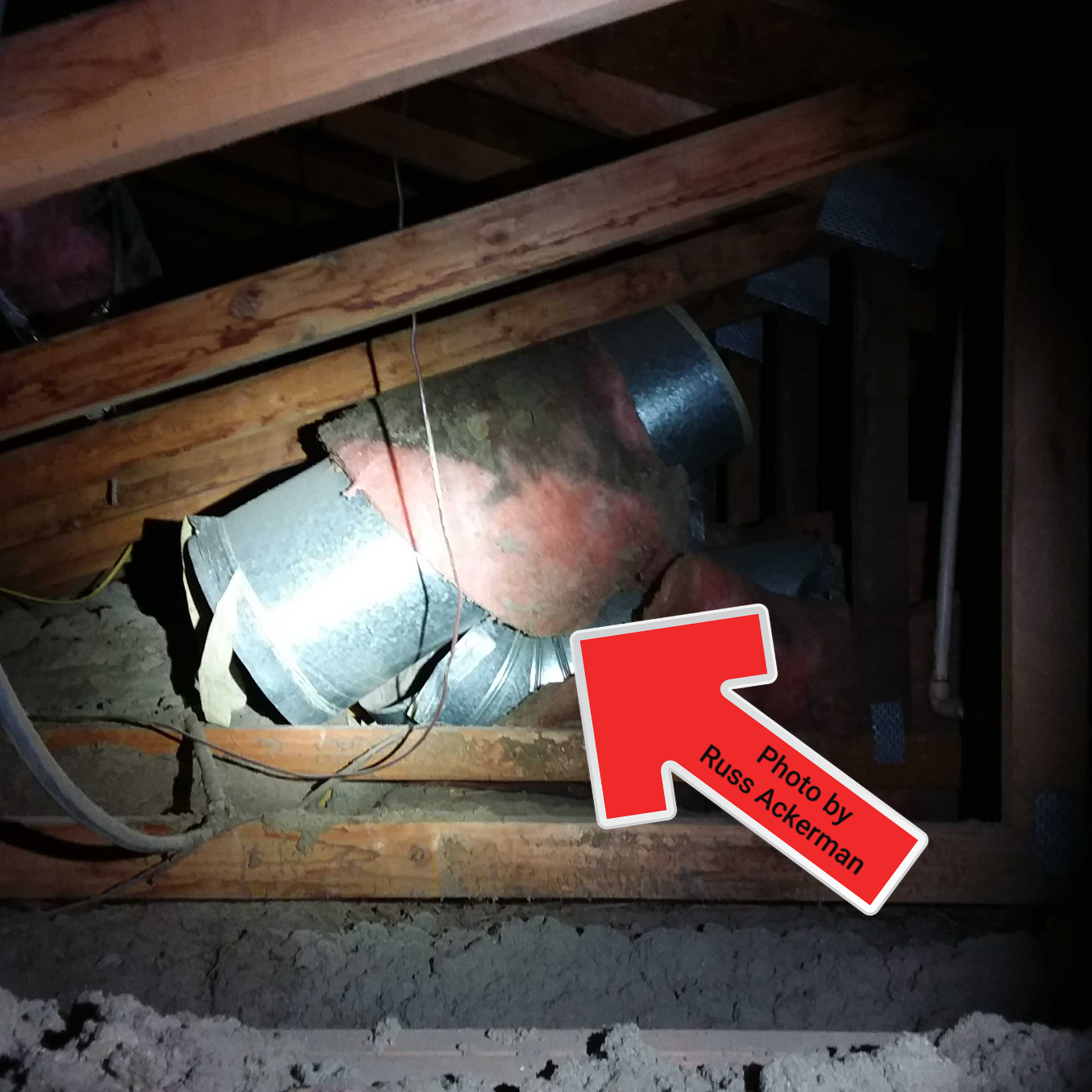 Abandoned ductwork in attics should be removed. Attics and crawlspaces often become a dumping ground for used parts.