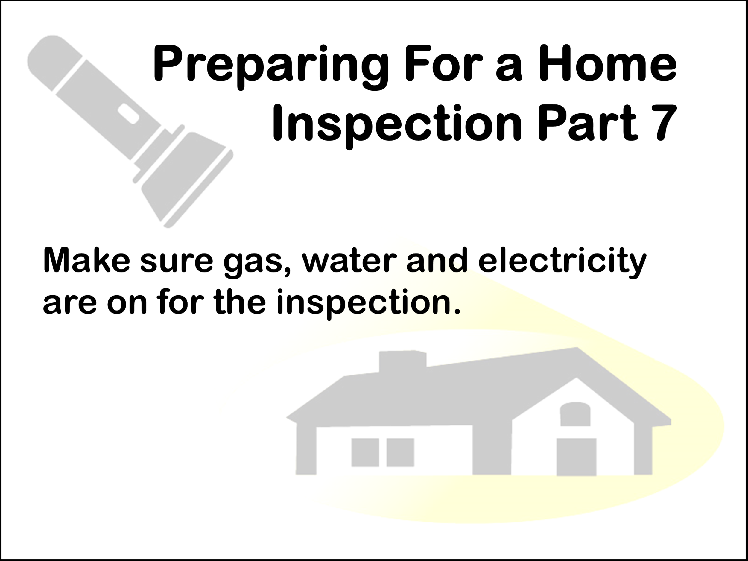 Main gas or water valves, pilot lights and winterized items will not be operated during the Inspection.