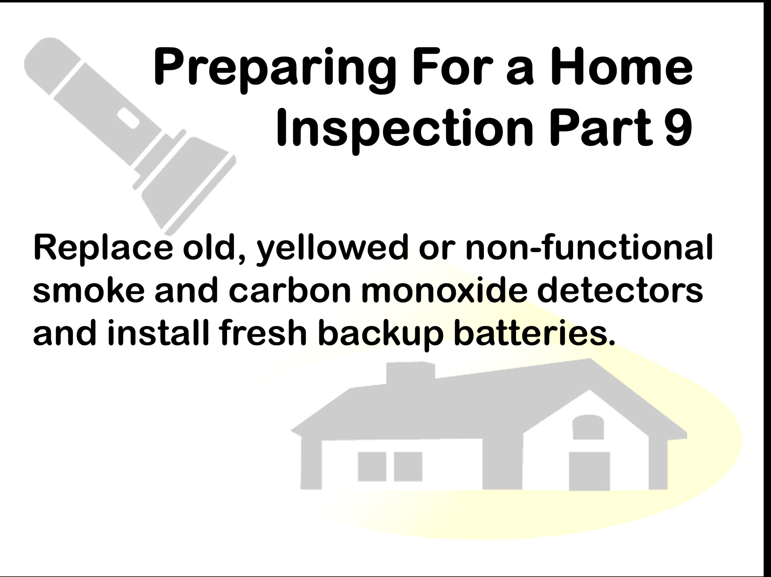 Replace smoke detectors every 10-yrs and carbon monoxide detectors every 7-yrs.