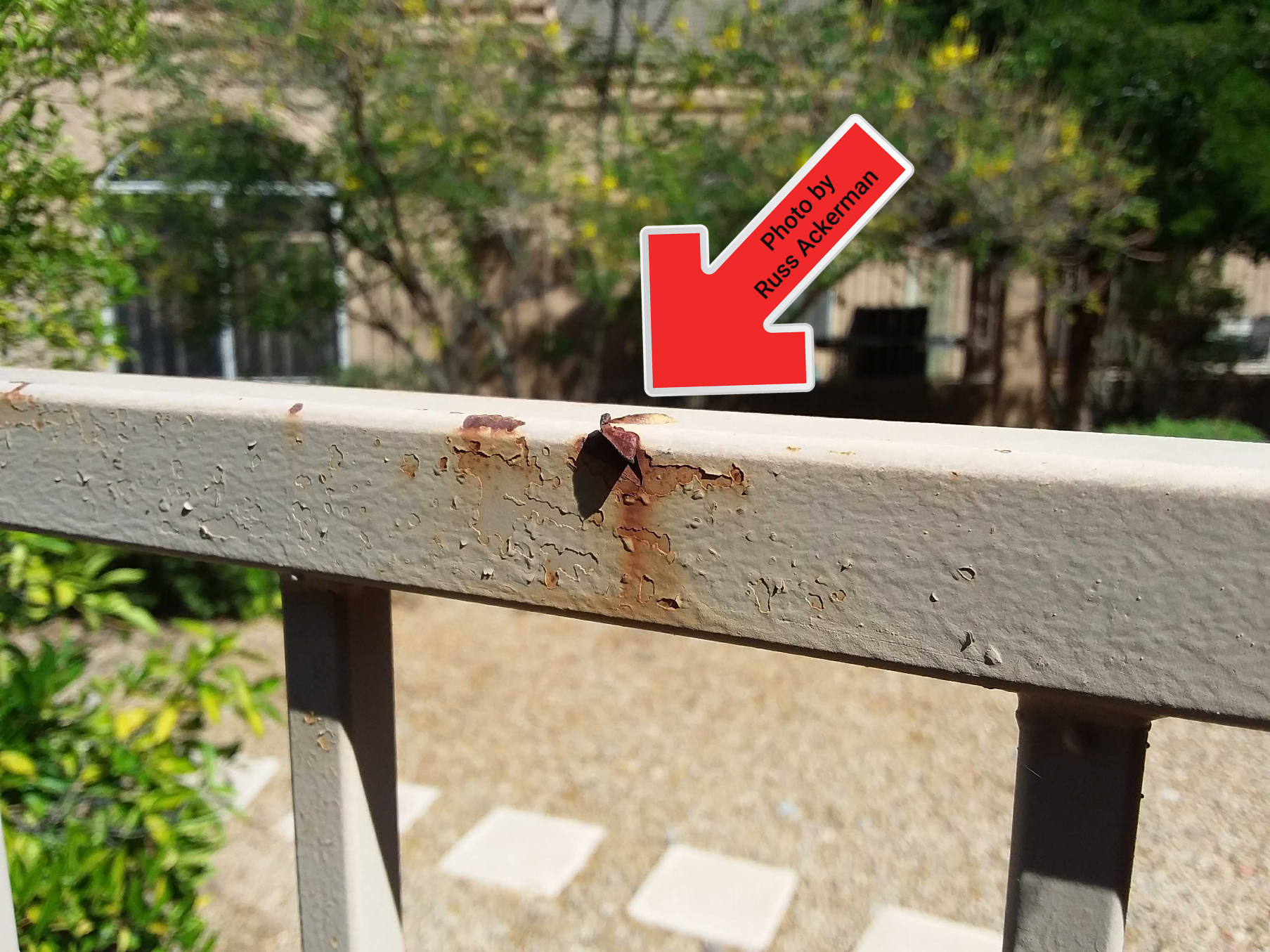 Sharp cut hazards should be minimized as metal fencing begins to rust and age over time.