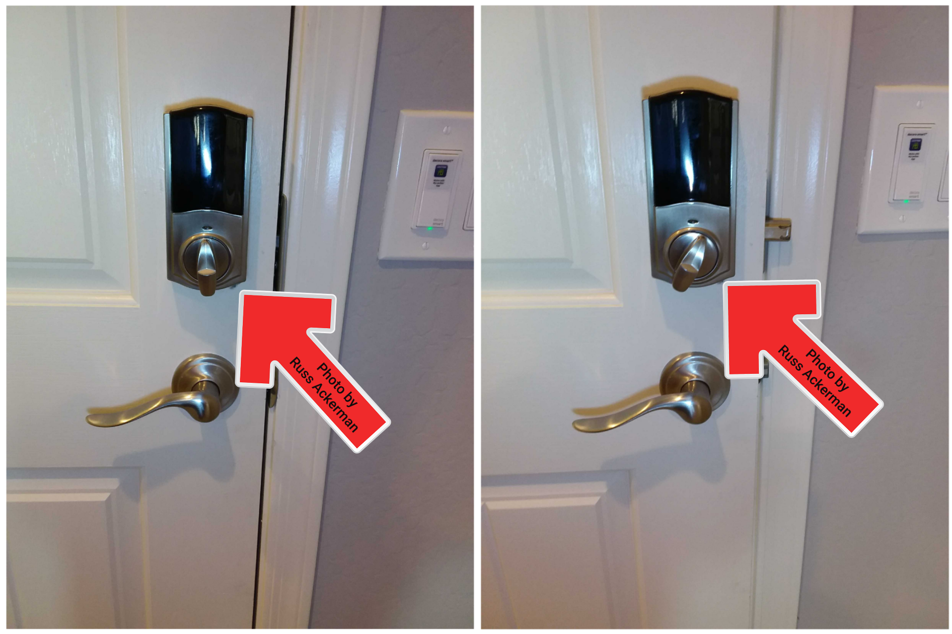 Many deadbolt latches do not fully latch. Boring the hole a little deeper will correct the issue.