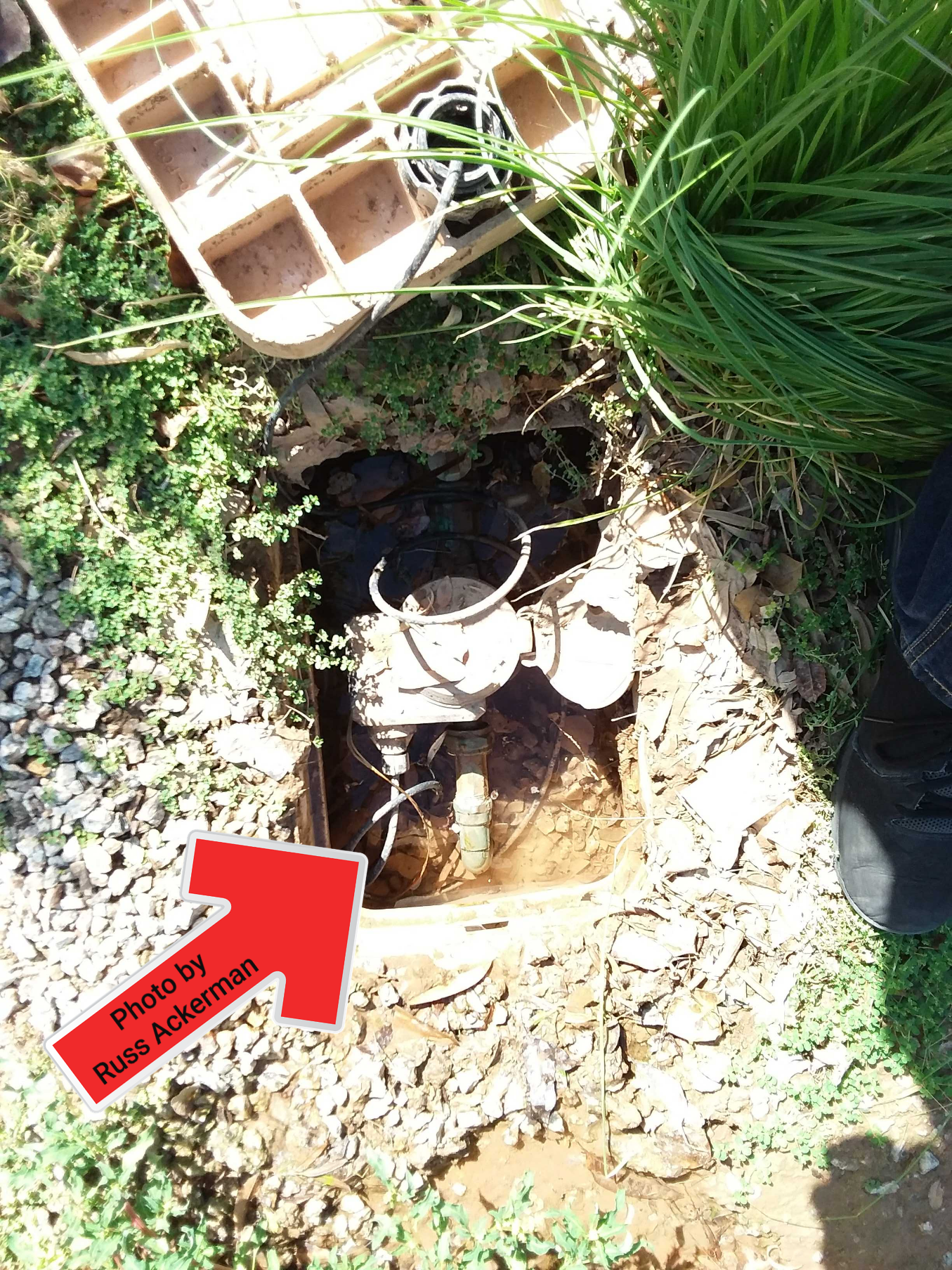 This water meter was under water, not because the main was leaking, there was a nearby irrigation leak that was flooding the yard.