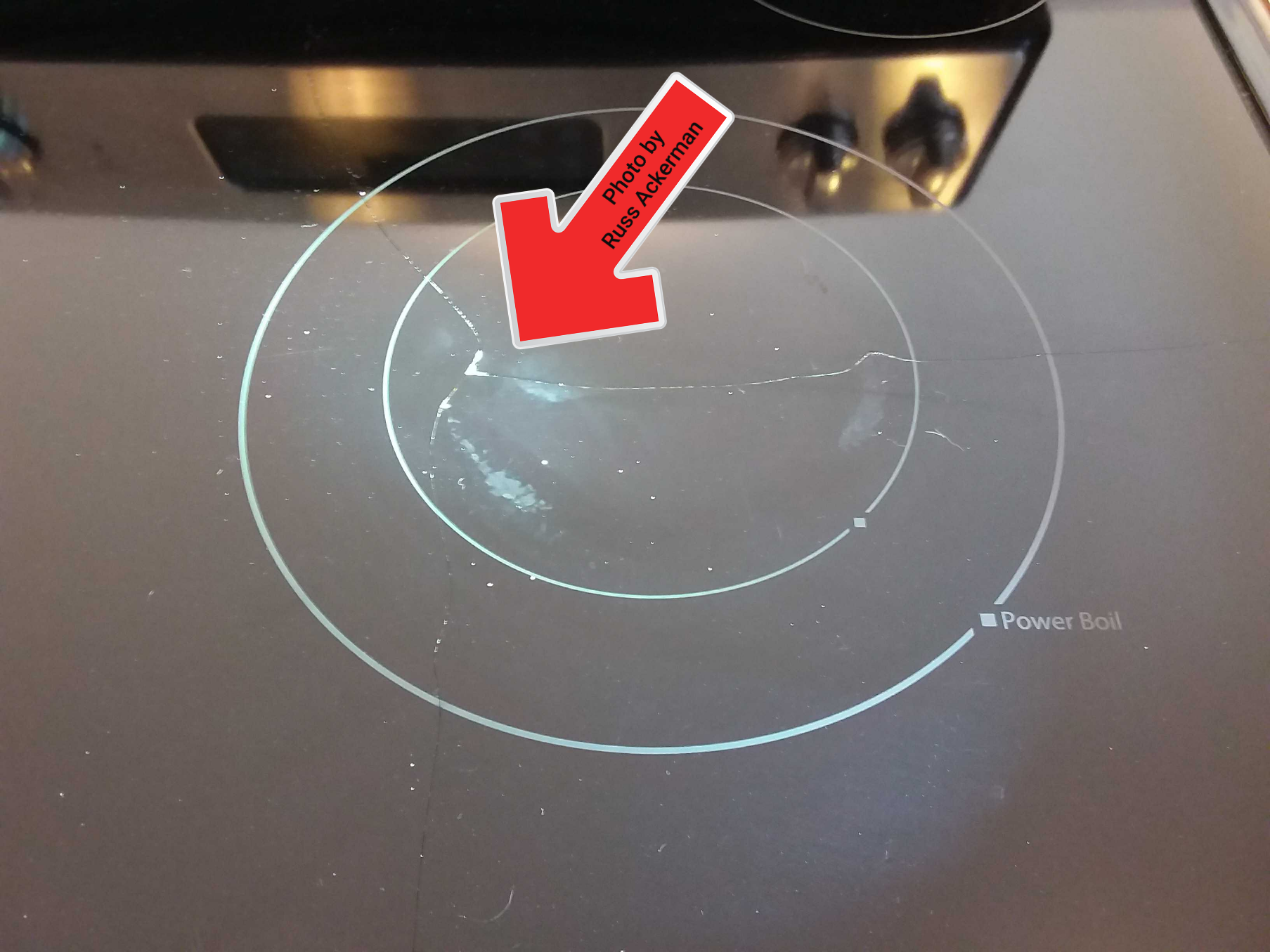 A cracked cooktop does not hinder proper operation of the range, it will allow moisture inside and may become a cut hazard.