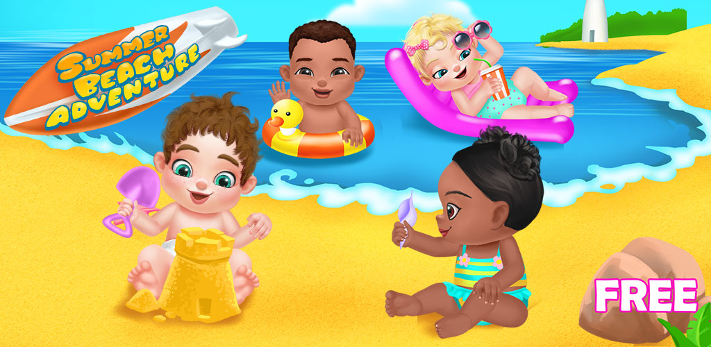 Summer Beach Baby Care Games  It's summer!Babies were invited to a huge beach party!  What kind of fun activities for the babies!