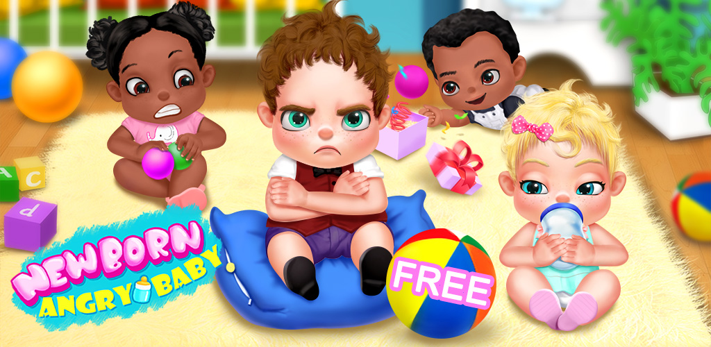 Newborn Angry Baby Boss - Baby Care Games  You got a newborn CUTE baby. Who know the CUTE baby turns into an ANGRY baby! You must be in a little trouble.In order to calm down the baby, here's the little tips