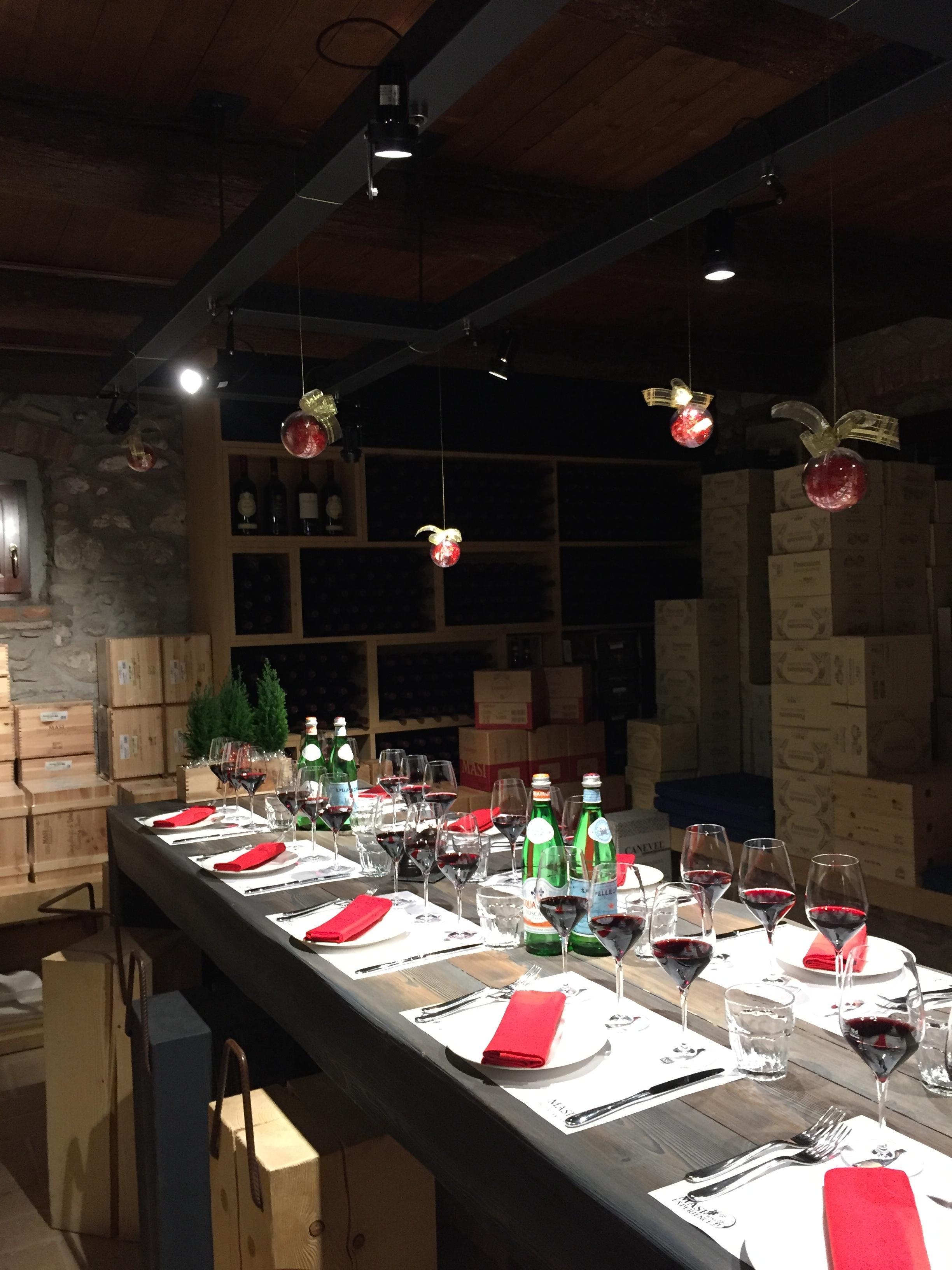 Dinner at Masi Winery.