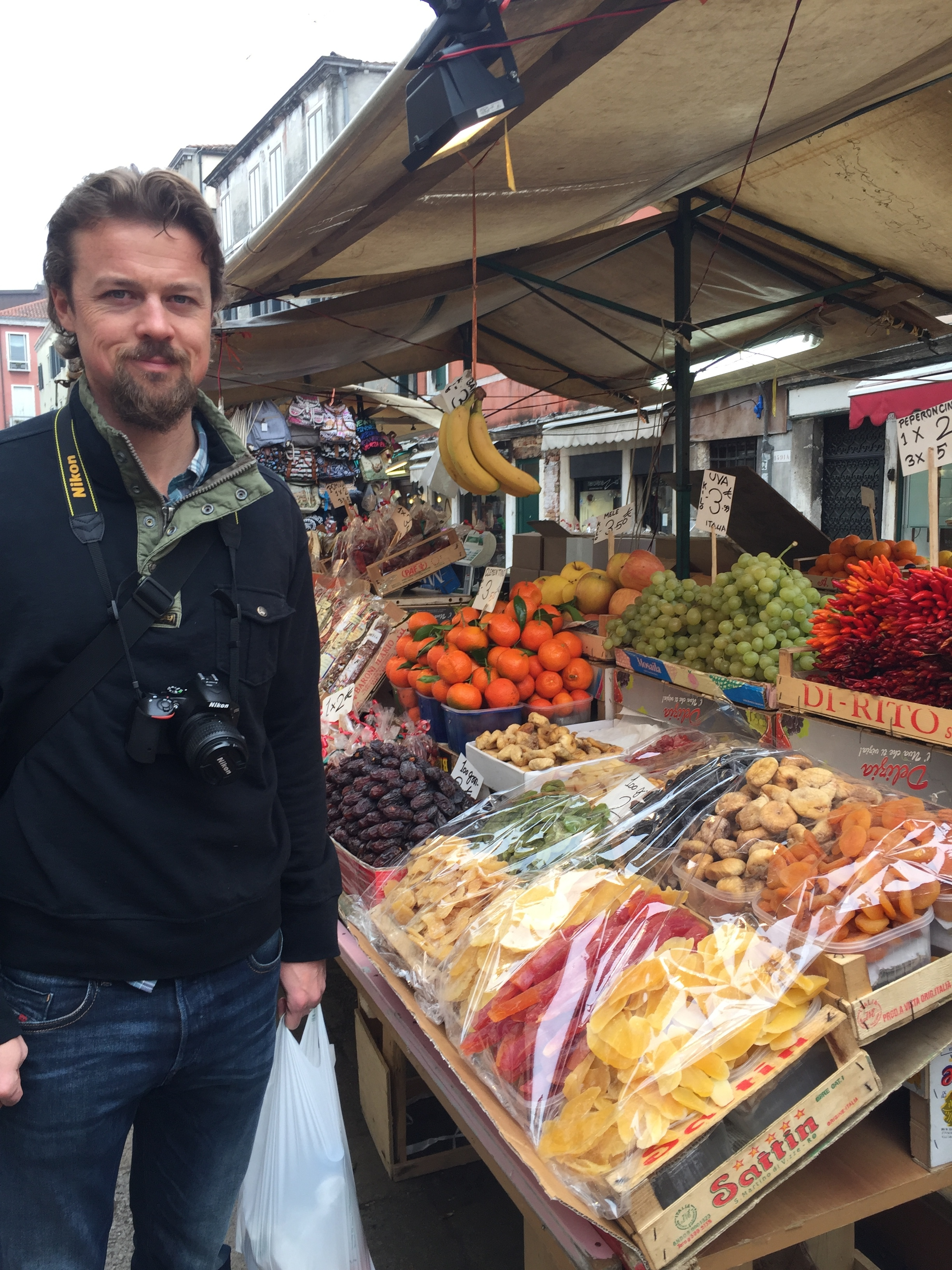 My handsome husband at the Market in Venice.