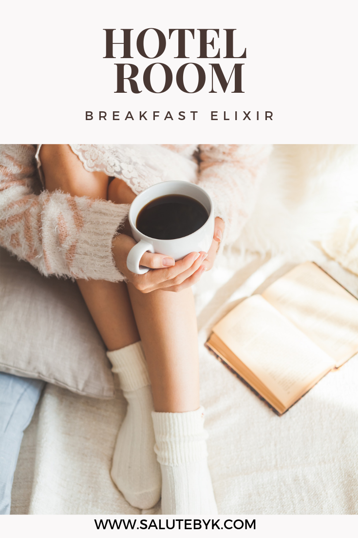 How to make a Healthy Breakfast Elixir in your Hotel Room