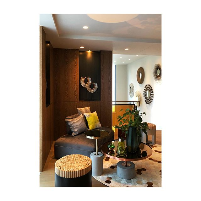 """Located at the historic Kadoorie Avenue, for this project we transformed the old """"out of place"""" building into a modern, colonial-inspired architecture that is in harmony with the avenue's history.  This was a shot of an interior corner during staging and styling for the project."""
