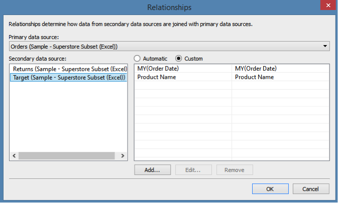 Adding Data Sources in Tableau