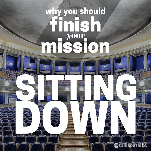 Just a few thoughts on why missionaries should finish their missions sitting down. Check out the link in our bio for the 📝NEW BLOG POST📝