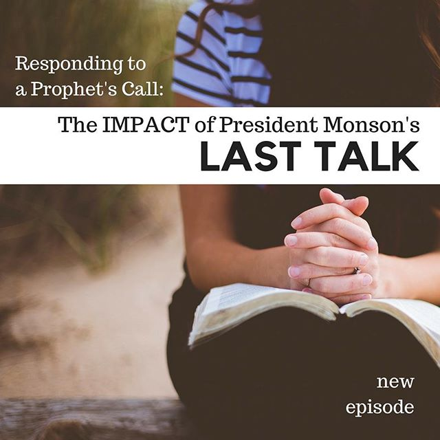 This new episode has been a long time coming. During the October #LDSConf, so many speakers made reference to President Monson's challenge to read the Book of Mormon every day in his last address. We immediately wanted to make an episode about how leaders of the church responded to his call, but it never worked out until after President Monson had passed. The timing, however, put us in a place where we were reflecting on his life and the power of his invitation, and were grateful for that! And how fitting that the focus of this episode is how President Nelson took the challenge!
