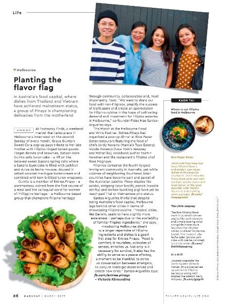 Planting the flavor flag (p. 36)