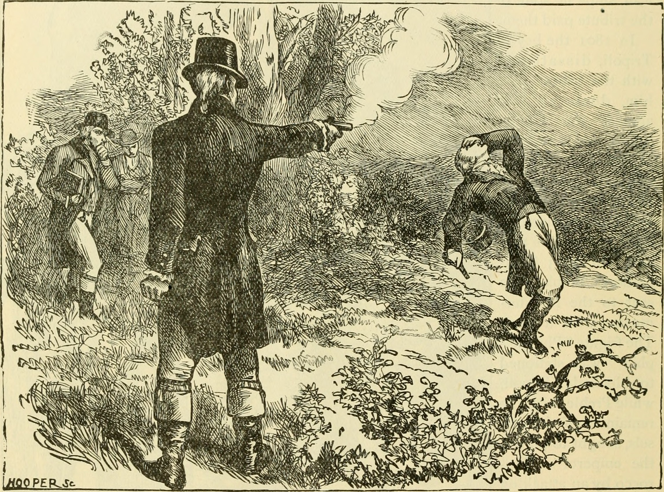 Aaron Burr shoots Alexander Hamilton in a duel in New Jersey, 11 July 1804.  Source