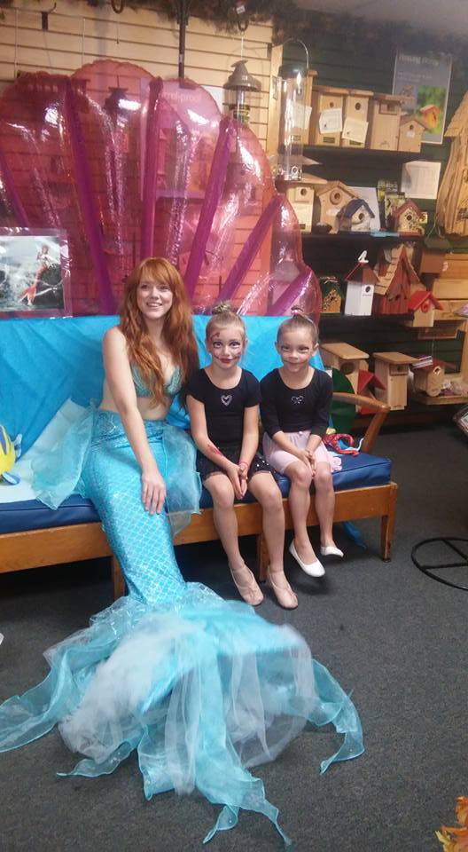 Trick-or-Treat with a Mermaid at Wild Birds Unlimited in Grass Valley California