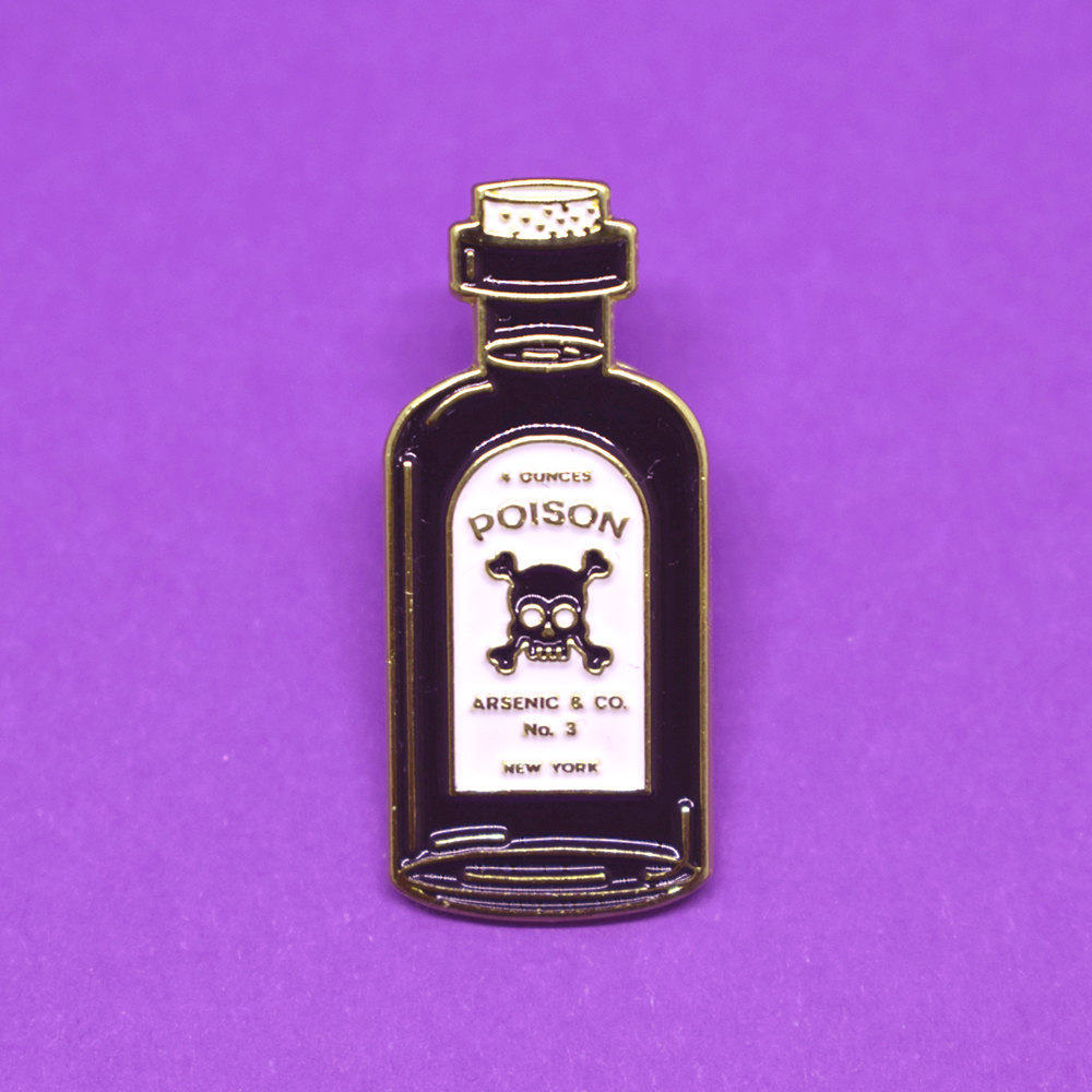 Poison Bottle Soft Enamel Pin