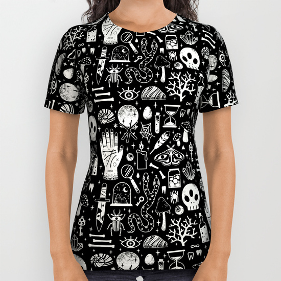 Curiosities: Bone Black Shirt by Lord of Masks