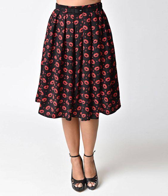 Vampire Sulpicia High Waist Swing Skirt
