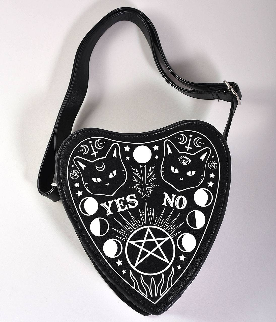Black Leatherette Occult Internal Fire Handbag