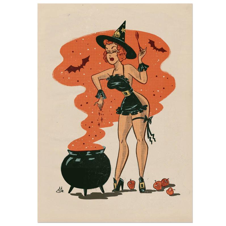 Witch print by Sveta Shubina