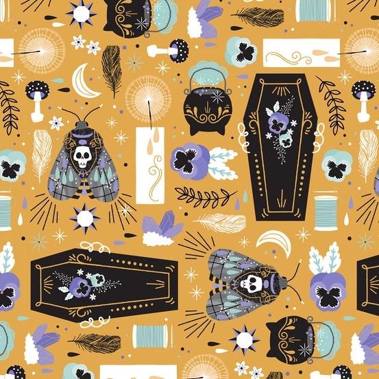Hipster Halloween Fabric