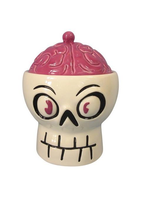 Ceramic Skull & Brain Candy Bowl
