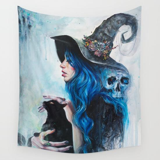 Blue Valentine tapestry by Tanya Shatseva