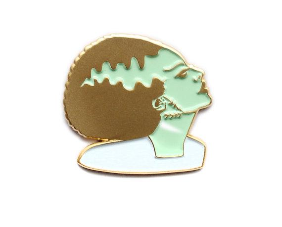Bride of Frankenstein enamel lapel pin
