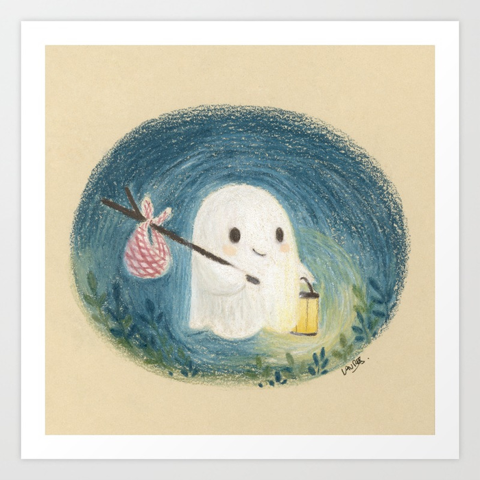 Little ghost in the night by Laure S